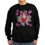 cacats cherry blossoms Sweatshirt (dark)