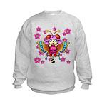 cacats cherry blossoms Kids Sweatshirt