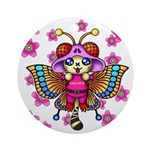 cacats cherry blossoms Ornament (Round)