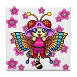 cacats cherry blossoms Tile Coaster