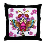 cacats cherry blossoms Throw Pillow