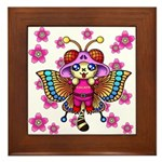 cacats cherry blossoms Framed Tile