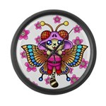 cacats cherry blossoms Large Wall Clock