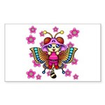 cacats cherry blossoms Sticker (Rectangle)