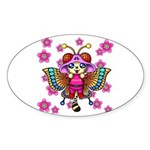 cacats cherry blossoms Sticker (Oval)