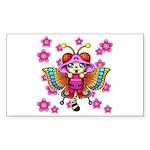 cacats cherry blossoms Sticker (Rectangle 50 pk)