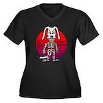 dogman Women's Plus Size V-Neck Dark T-Shirt