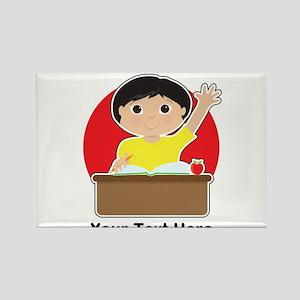 Little Boy at School (Asian) Rectangle Magnet