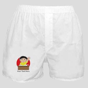 Little Boy at School (Asian) Boxer Shorts
