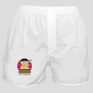 Little Girl at School Boxer Shorts