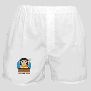 Little Girl at School Asian Boxer Shorts