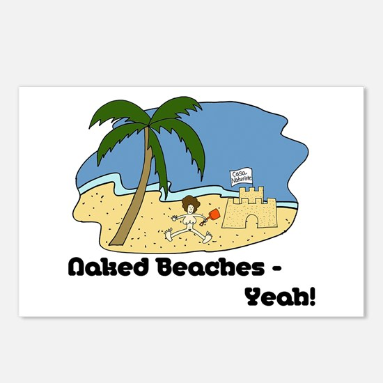 Naked Beaches - Yeah! Postcards (Package of 8)