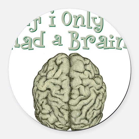 Brain Round Car Magnet