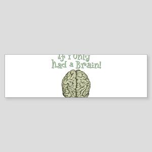 Brain Bumper Sticker
