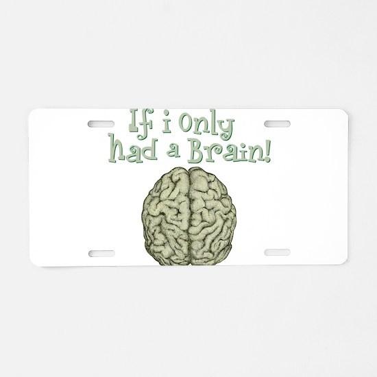 Brain Aluminum License Plate