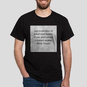 Mark Twain quote Dark T-Shirt