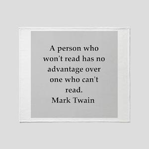 Mark Twain quote Throw Blanket
