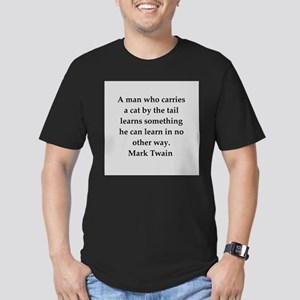 Mark Twain quote Men's Fitted T-Shirt (dark)