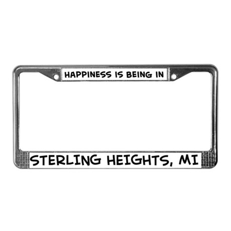 Happiness is Sterling Heights License Plate Frame