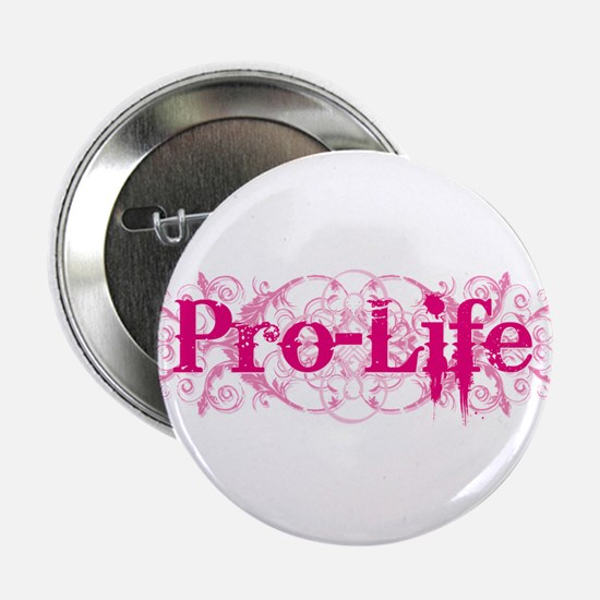"""Pro-Life (pink) 2.25"""" Button (10 pack)"""