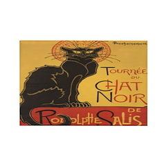 Le Chat Noir Rectangle Magnet (10 pack)