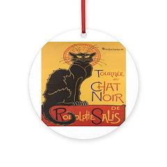 Le Chat Noir Ornament (Round)
