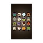 Monster Mash 02 Sticker (Rectangle 50 pk)