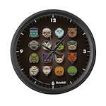 Monster Mash 02 Large Wall Clock
