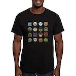 Monster Mash 02 Men's Fitted T-Shirt (dark)