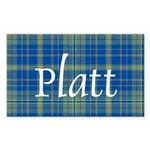 Tartan - Platt Sticker (Rectangle 50 pk)
