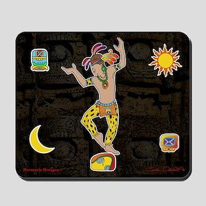 Mayan Jaguar Man Mousepad