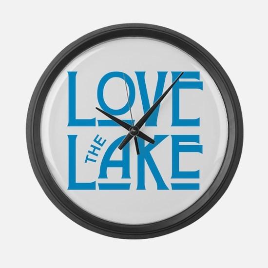Love the Lake Large Wall Clock