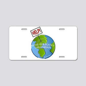 Make Our Planet Great Again Aluminum License Plate
