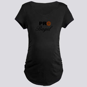 Pro Bagel Maternity Dark T-Shirt