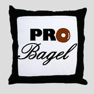 Pro Bagel Throw Pillow