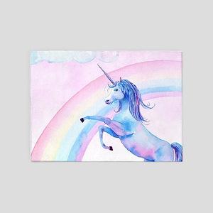 Unicorn Watercolor 5'x7'Area Rug