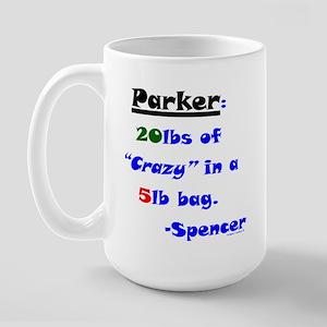 20lbs of Crazy 5lb Bag Large Mug