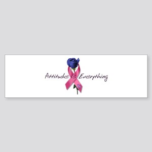 Pink Ribbon - Attitude Sticker (Bumper)