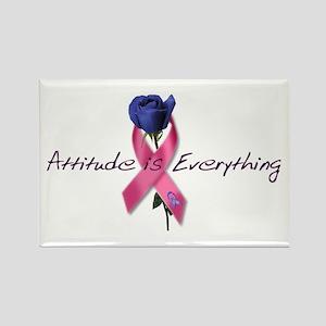 Pink Ribbon - Attitude Rectangle Magnet