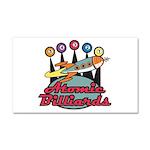 Retro Atomic Billiards Pool H Car Magnet 20 x 12