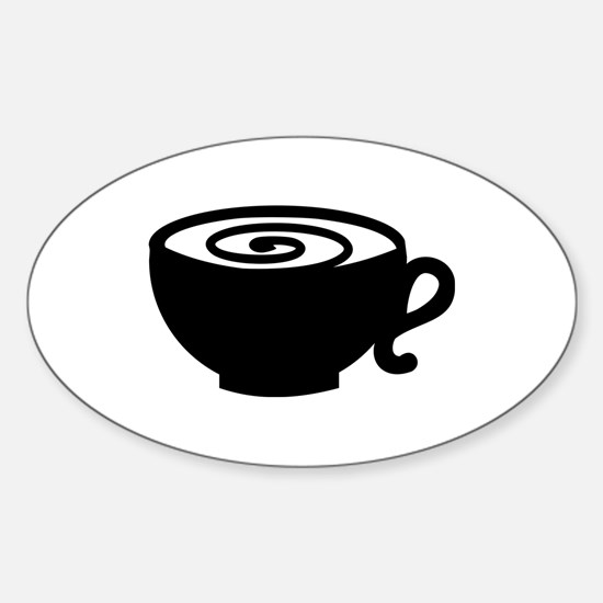 Coffee cup Sticker (Oval)