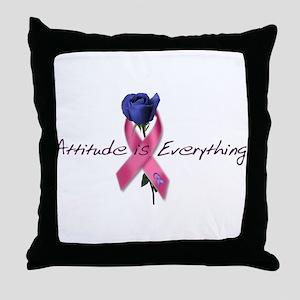 Pink Ribbon - Attitude Throw Pillow