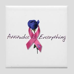 Pink Ribbon - Attitude Tile Coaster