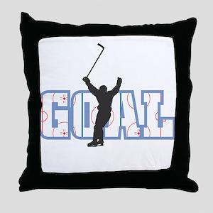 GOAL! Hockey Throw Pillow