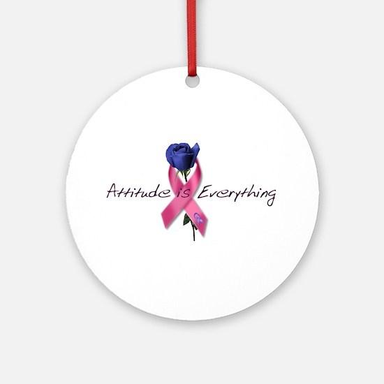Pink Ribbon - Attitude Ornament (Round)