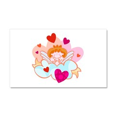Cupid in the Clouds Car Magnet 20 x 12