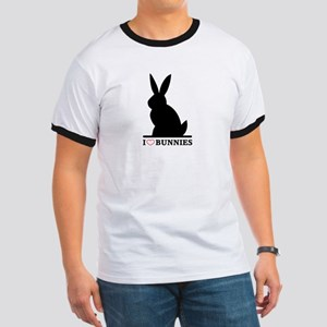 I Love Bunnies Ringer T