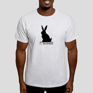 I Love Bunnies Light T-Shirt