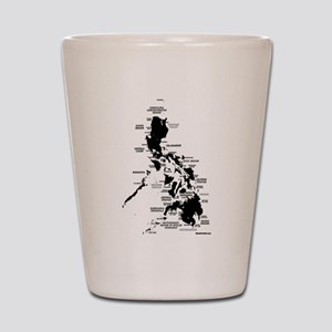Philippines Rough Map Shot Glass