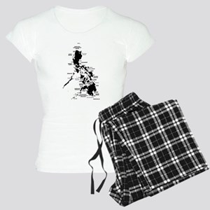 Philippines Rough Map Women's Light Pajamas